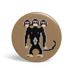 Geek Pin Three Headed Monkey
