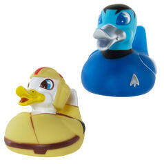 Canards en plastique de personnages de science-fiction qui changent de couleur.