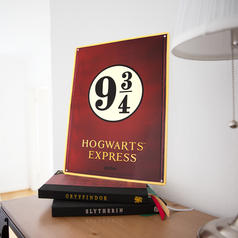 Harry Potter Tin-Plate Sign Hogwarts Express Platform
