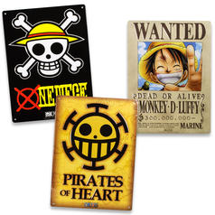 One Piece Tin Signs