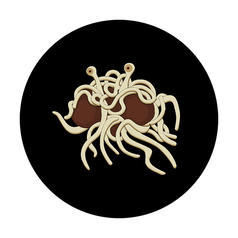 Geek Sticker Flying Spaghetti Monster