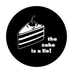 Geek Sticker The Cake is a Lie