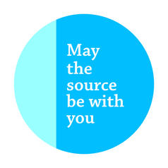 Geek Sticker May the Source be With You