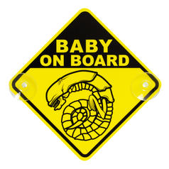 "Affiche pour voiture ""Chestburster Alien Baby on Board"" (bébé Alien Chestburster à bord)"