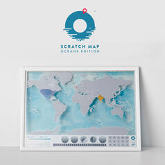 Scratch Map Oceanography Edition