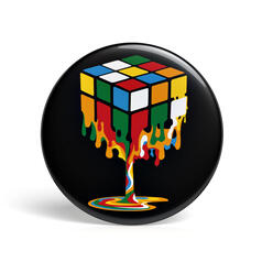 Geek Pin Melting Magic Cube