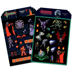 Castlevania 8-Bit Fridge Magnet Set