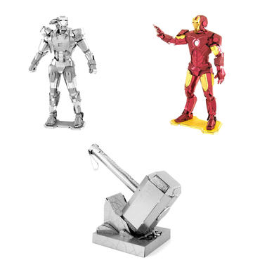 Kits maquettes avengers metal earth 3d getdigital for Plan d iron man